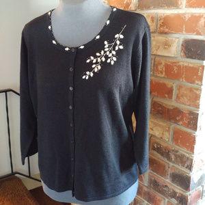 Crystal-Kobe beaded & embroidered sweater